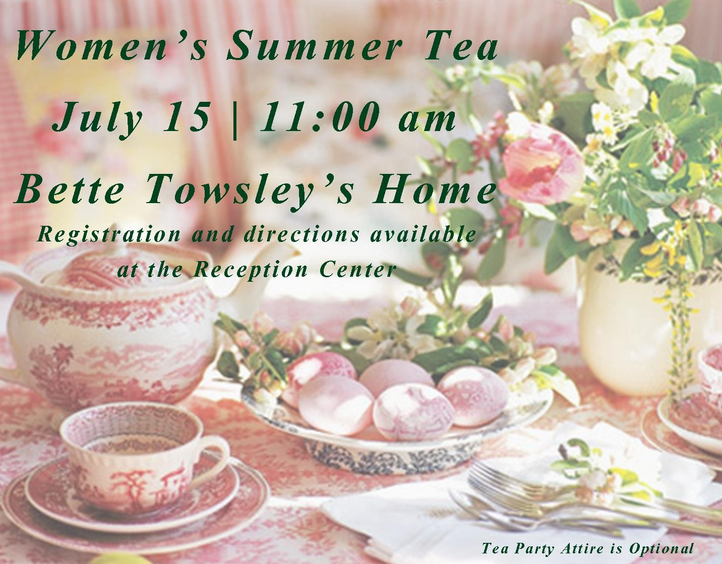 Summer Tea Party - July 15 2015